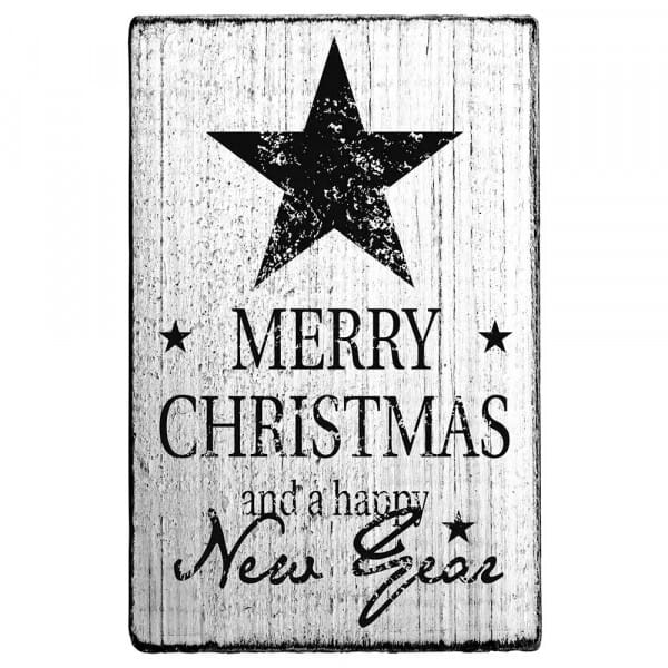 """Vintage Stempel """"Merry Christmas and a happy new year"""""""