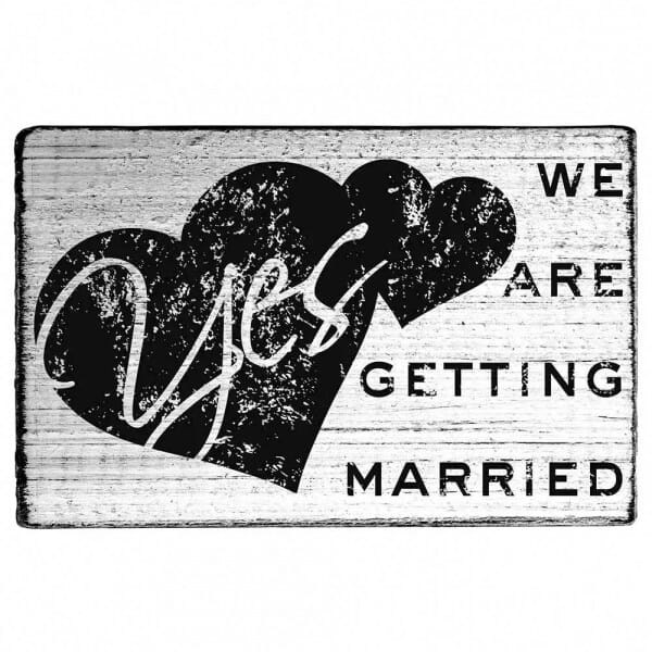 "Vintage Stempel ""We are getting married"""