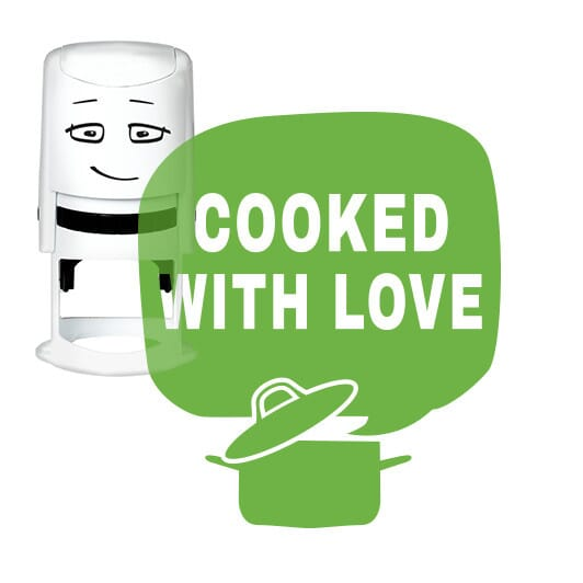 NIO Stempelmotiv - cooked with love - cooking pot