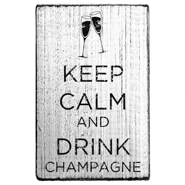 """Vintage Stempel """"Keep calm and drink champagne"""""""