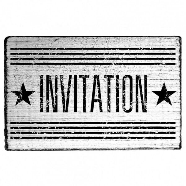 "Vintage Stempel ""Invitation"""