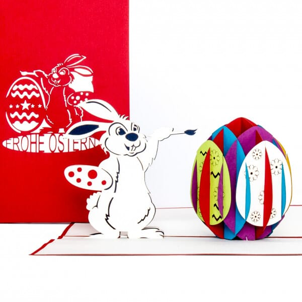 Colognecards Pop-Up Karte Osterhase mit Osterei
