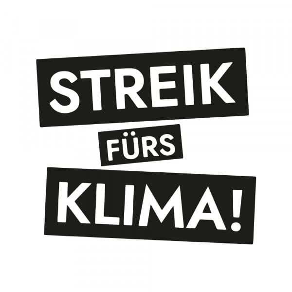 Fridays for Future - Streik fürs Klima (60x60mm)