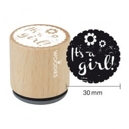 Woodies Stempel - It's a girl - 1