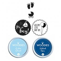 Woodies Stempel SET - Baby Boy WS0003