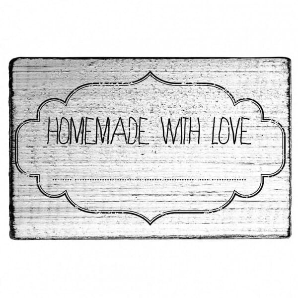 """Vintage Stempel """"Homemade with love"""""""