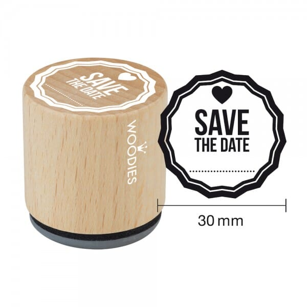 Woodies Stempel - Save the date (Herz klein)
