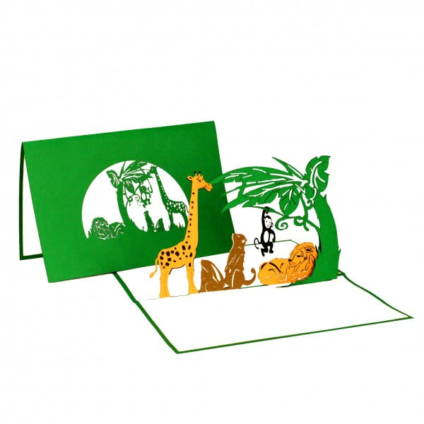 Colognecards Pop-Up Karte Tiere Zoo